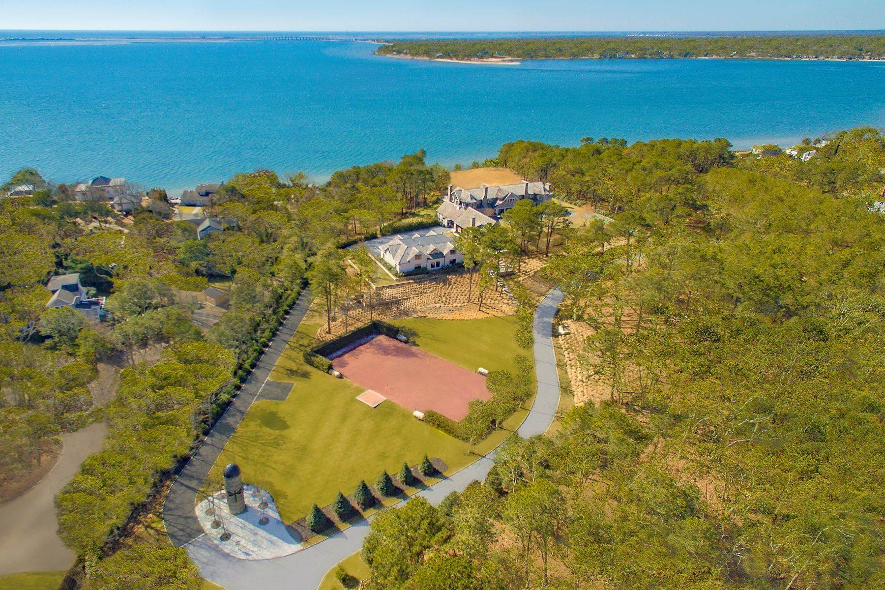 Single Family Homes 在 Fantastic Southampton Bay View Estate 660 Montauk Highway 南安普敦, 纽约 11968 美国